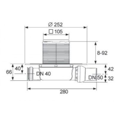 Купить Трап низкий горизонтальный Tecedrainpoint S 110 (3601100)