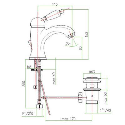 Купить Fiore Imperial (83CR5221) Смеситель для раковины хром/керамика в santehnika-rim.com.ua