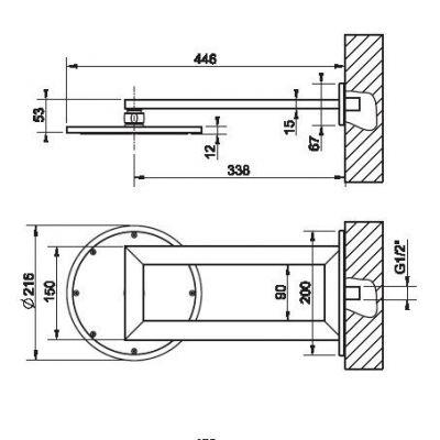 Купить Верхний душ хром 21 см Gessi Transparenze (34349.031) в santehnika-rim.com.ua