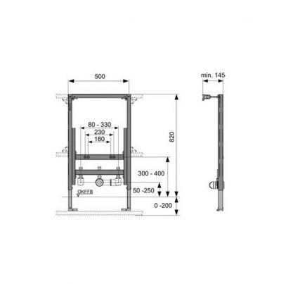 Купить Инсталляция для подвесного биде, высота 82 см Tece (9.330.005) в santehnika-rim.com.ua