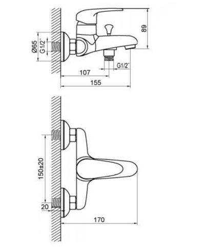 Купить Комплект смесителей хром Devit Giran (1623190128SP) в santehnika-rim.com.ua