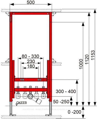 Купить Комплект инсталляции Tece и биде Villeroy&Boch Subway 2.0 (9.330.00-54000001)