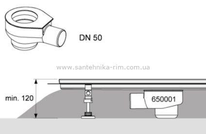 Купить Сифон DN 50, производительность 0,8 л/с ТЕСЕdrainline (650001) в santehnika-rim.com.ua