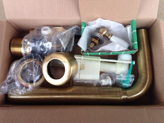 Купить Унитаз с средним бачком и механизмом бронза Simas Lante (LA02-LA28B-D24BR) в santehnika-rim.com.ua
