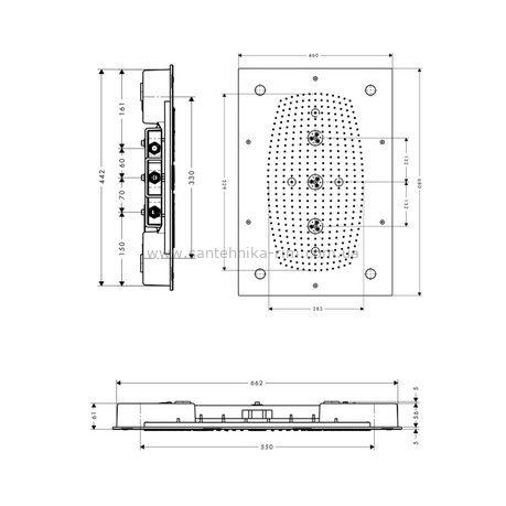 Купить Верхний душ Hansgrohe Raindance Rainmaker, с подсветкой(28418000) в santehnika-rim.com.ua