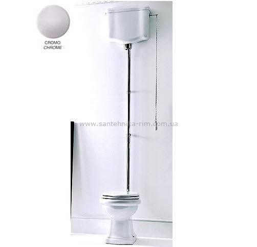 Купить Унитаз с высоким бачком и механизмом хром Kerasan RETRO (1011-1080-7501CR-7502CR) в santehnika-rim.com.ua