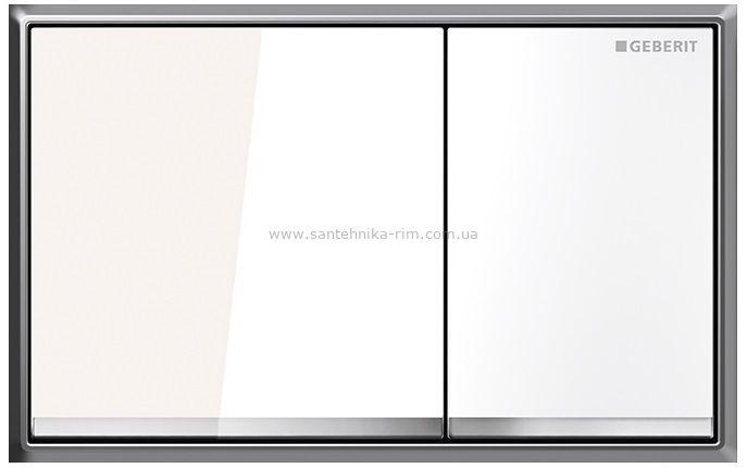 Купить Кнопка смыва Geberit Omega60, белая глянцевая (115.081.SI.1) в santehnika-rim.com.ua