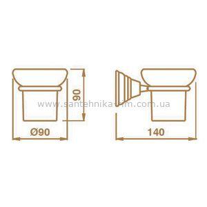 Купить Стакан подвесной керамика/хром Canova (CA14251) в santehnika-rim.com.ua