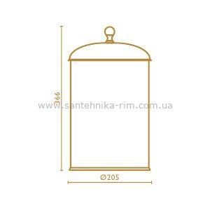 Купить Ведро для мусора золото Regency (RE91652) в santehnika-rim.com.ua
