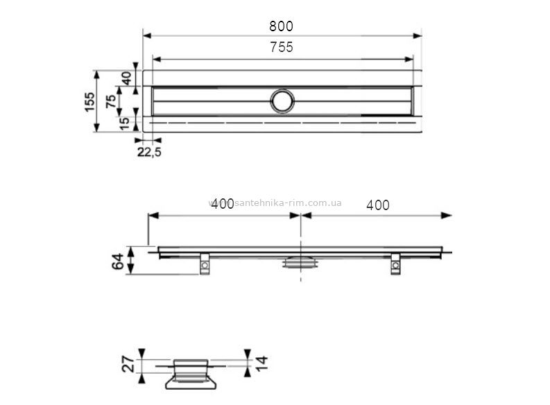 Купить Дренажный канал 80 см TECEdrainline (600800)