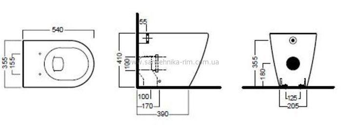Купить Унитаз напольный с крышкой Hatria Fusion (Y0XA) в santehnika-rim.com.ua