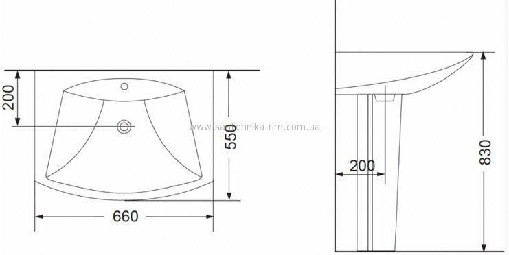 Купить Умывальник 66 Devit Comfort (1010123) в santehnika-rim.com.ua